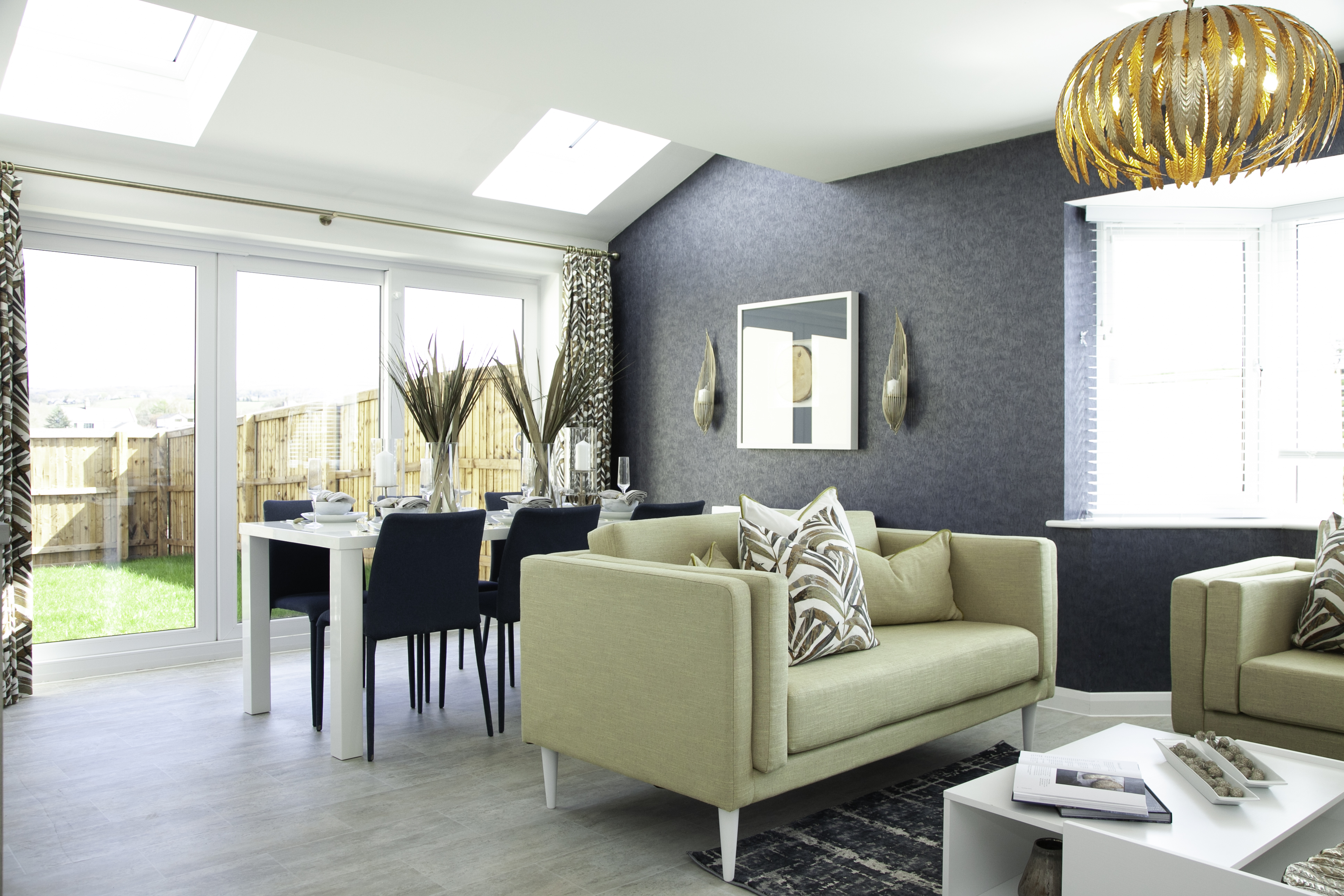 Stunning lounge at Redwing's Aughton Wood Park Development.